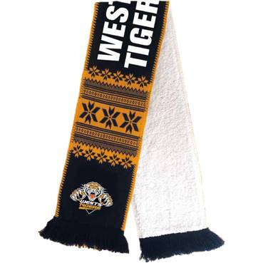 Wests Tigers Wooly Jacquard Scarf