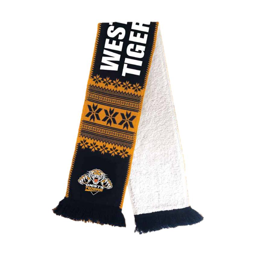mainWests Tigers Wooly Jacquard Scarf0