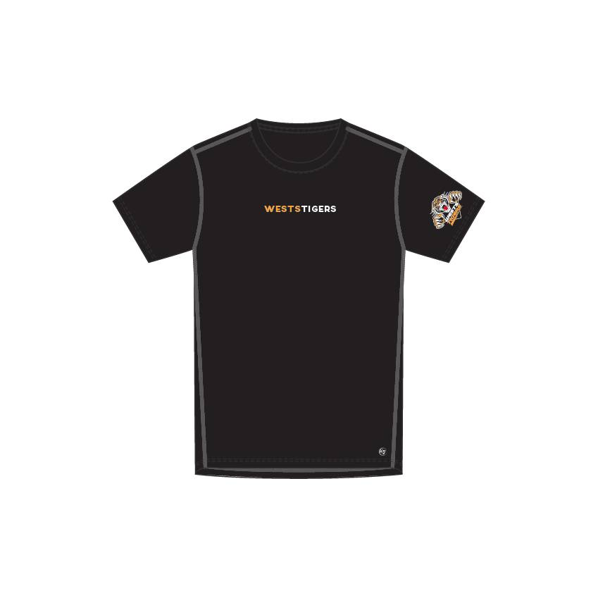 Wests Tigers '47 Forward Microlite SS Tee0