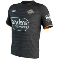 Wests Tigers 2019 Kids Black Training Tee2