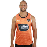 Wests Tigers 2019 Orange Training Singlet0