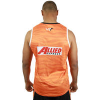 Wests Tigers 2019 Orange Training Singlet1