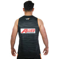 Wests Tigers 2019 Black Training Singlet1