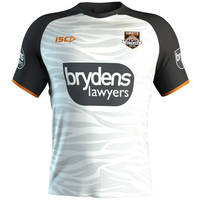 Wests Tigers 2019 White Training Shirt0