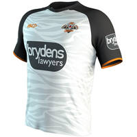 Wests Tigers 2019 White Training Shirt2