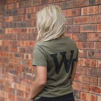 Wests Tigers WT Ladies Olive  Tee1