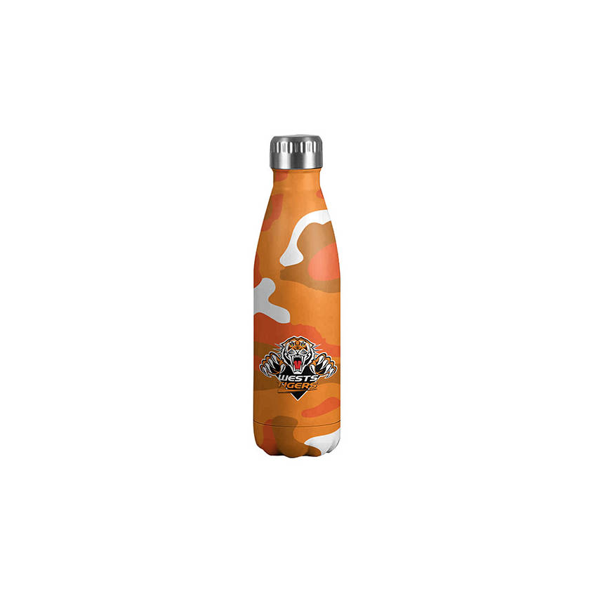 Wests Tigers Stainless Camo Insulated Drink Bottle0