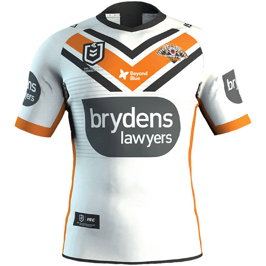 mainWests Tigers 2020 Beyond Blue Signed Player Issue Jersey 8 of 80