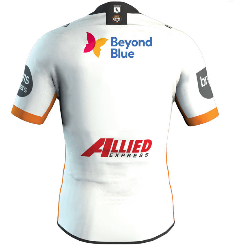 mainWests Tigers 2020 Beyond Blue Signed Player Issue Jersey 8 of 81