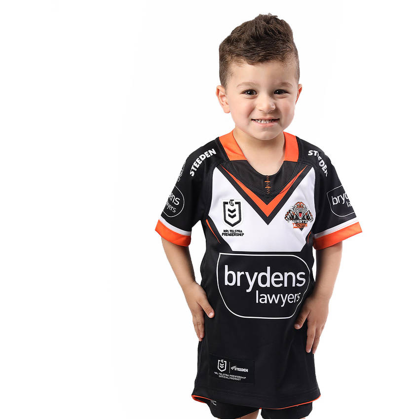 Wests Tigers 2021 Kids Home Jersey0