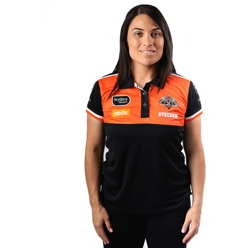 Wests Tigers 2021 Womens Media Polo0