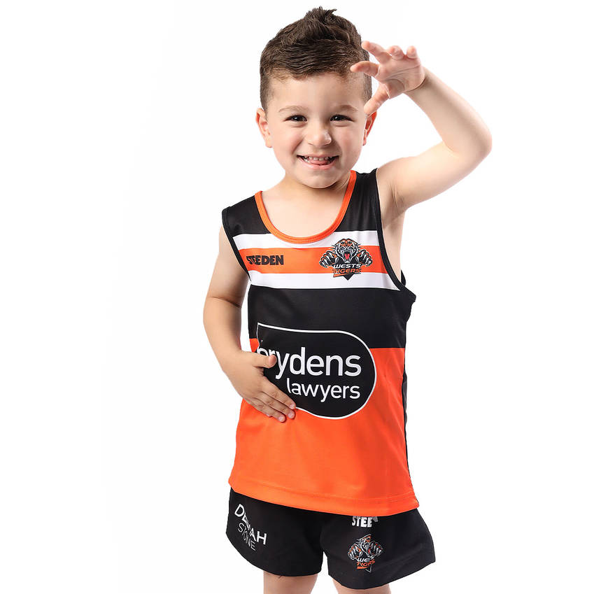Wests Tigers 2021 Kids Training Singlet0