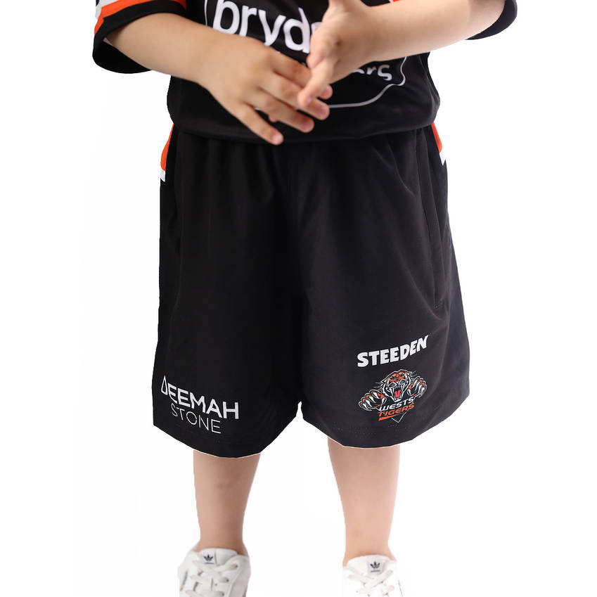 Wests Tigers 2021 Kids Training Shorts0