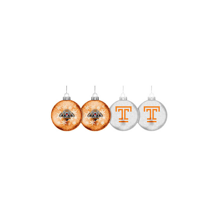 Wests Tigers Glitter Baubles0