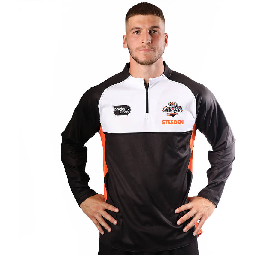 Wests Tigers 2021 Mens Training Long Sleeve Top0