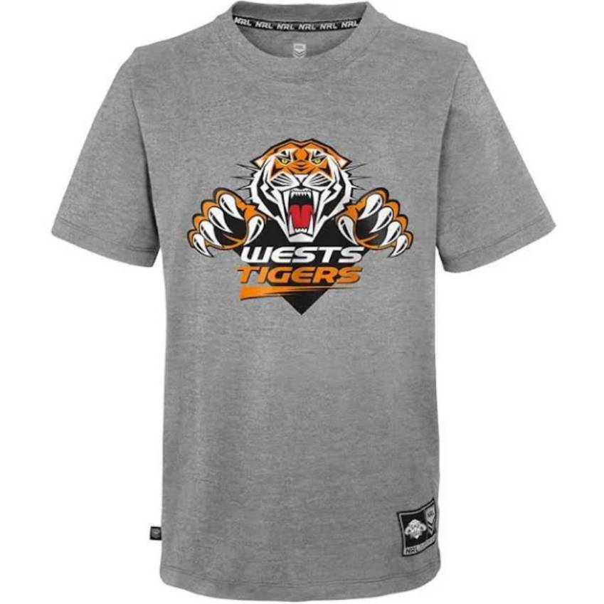 Wests Tigers Mens Logo SS Tee0