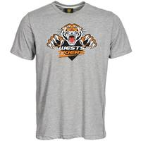 Wests Tigers Classic Grey Logo Tee1