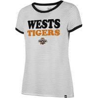 Wests Tigers '47 Ladies Ringer Tee0