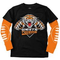 Wests Tigers Youth LS Logo Tee1