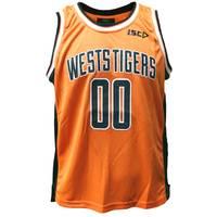 Wests Tigers Youth Orange Basketball Singlet1