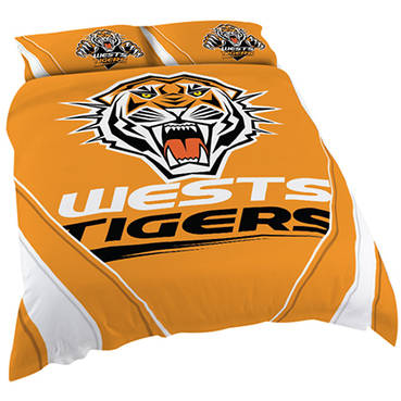 Wests Tigers Queen Quilt Cover