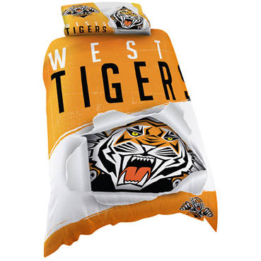 Wests Tigers Singlet Quilt Cover