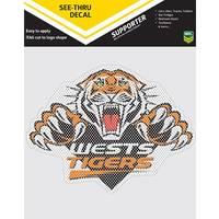 Wests Tigers See Thru Car Sticker0