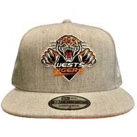 Wests Tigers New Era 950 Heather Grey Snapback1
