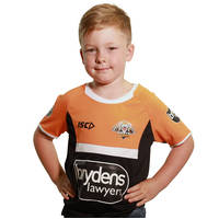 Wests Tigers 2018 Youth Black Training Tee0