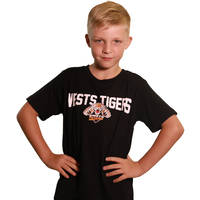 Wests Tigers Classic Youth S18 Logo Tee0