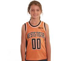 Wests Tigers Youth Orange Basketball Singlet0