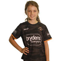Wests Tigers 2018 Youth Camo Training tee1