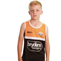 Wests Tigers 2018 Youth Black Training Singlet0