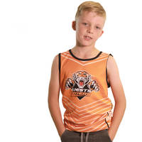 Wests Tigers Classic Youth Orange Sub Singlet0