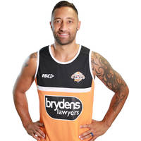 Wests Tigers 2018 Orange Training Singlet0