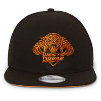 Wests Tigers New Era 950 Orange Logo Pop Snapback2