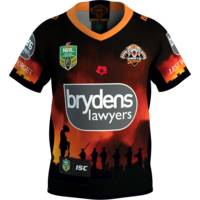 Wests Tigers 2018 Youth ANZAC Round Jersey0
