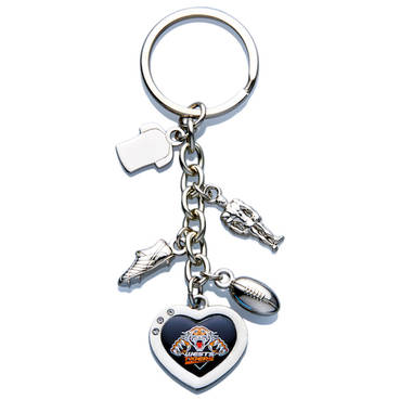 Wests Tigers Charm Keyring