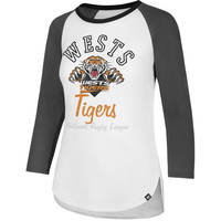 Wests Tigers '47 Ladies Splitter Tee1
